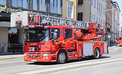 Turntable ladder Metz Scania Sweden